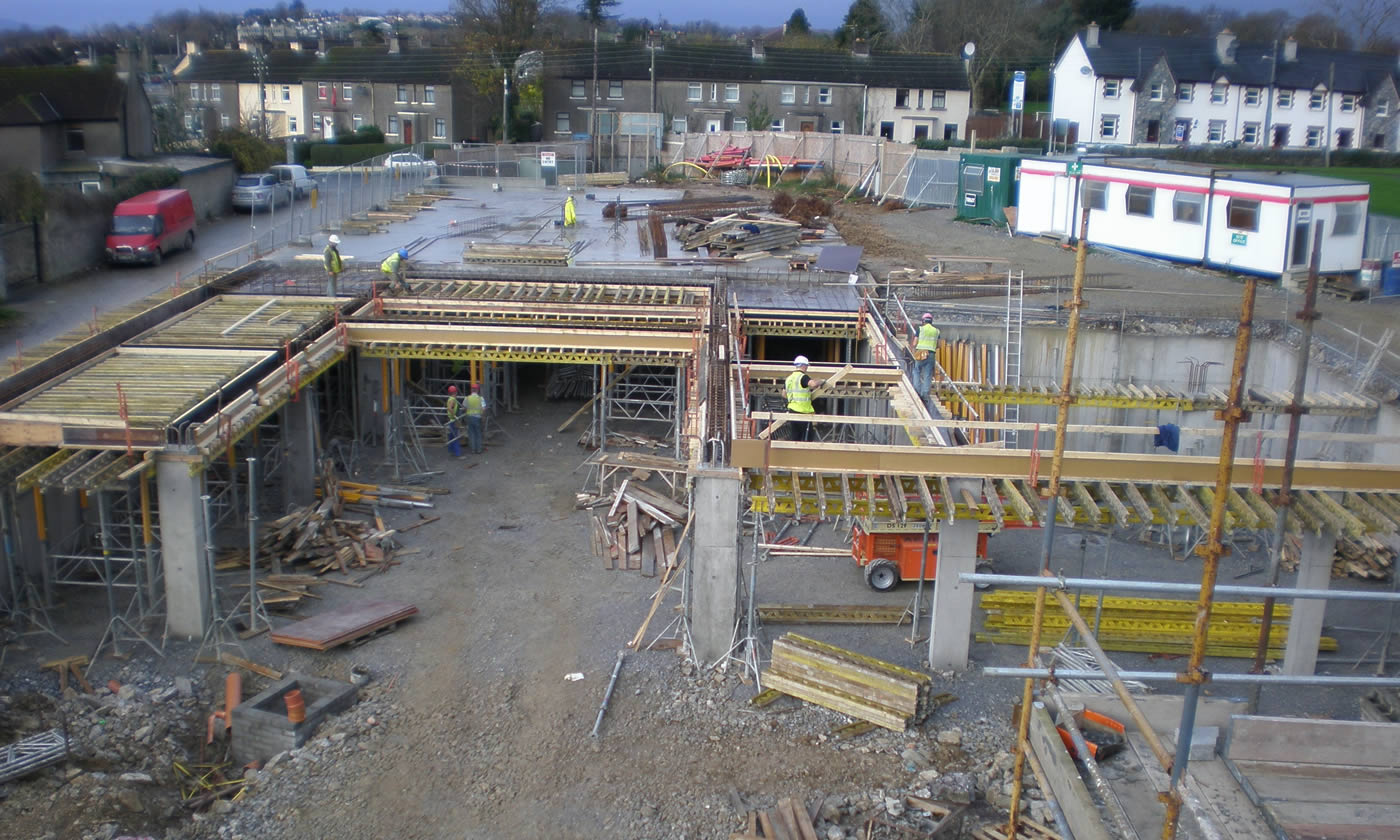 Retaining Wall and Car park -Resource Centre
